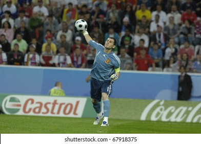 INNSBRUCK - JUNE 10: Iker Casillas of Spain Football National Team during the match Spain-Russia 4:1 Euro2008 Group D. June 10, 2008, in Innsbruck, Austria