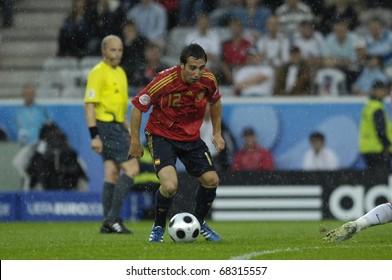 INNSBRUCK - JUNE 10: Santi Cazorla of Spain Football National Team during the match Spain-Russia 4:1 Euro2008 Group D. June 10, 2008, in Innsbruck, Austria
