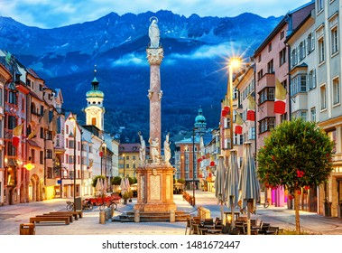 Innsbruck Altstadt in den Alpen, Tirol, Österreich