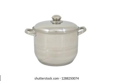 inox tall pot with lid