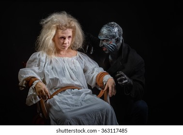 Insane woman and her inner monster