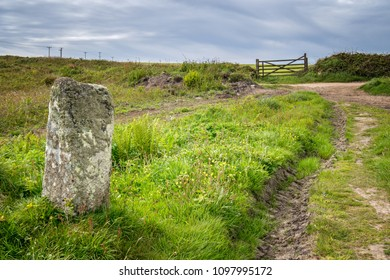 Inscribed Stone near Pendeen, Penwith Moors, Cornwall UK
