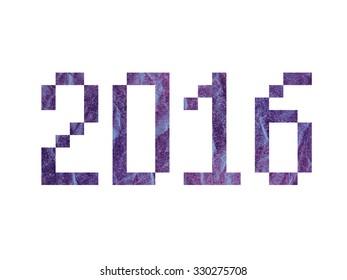inscription 2016 Year watercolor texture