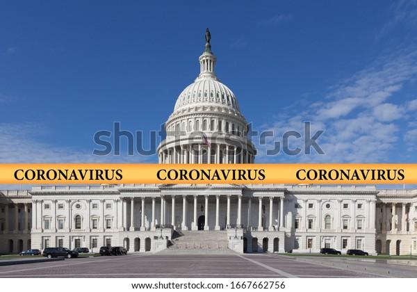 inscription-coronavirus-on-yellow-police