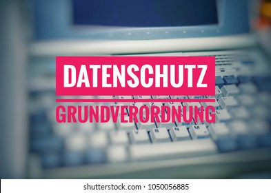 Inscription Datenschutzgrundverordnung (DSGVO)  (General Data Protection Regulation) in English GDPR (General Data Protection Regulation)  introduction of the DSGVO in the EU on 25.05.2018 in pink
