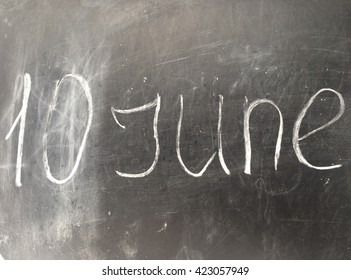 Inscription June with date in England style