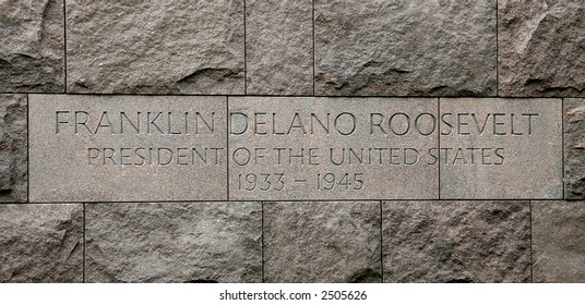 Inscription on Franklin D Roosevelt memorial, Washington