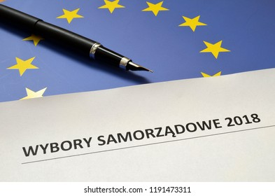 The inscription in Polish, local elections 2018