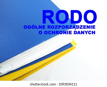 inscription in Polish, Rodo, general regulation on data protection