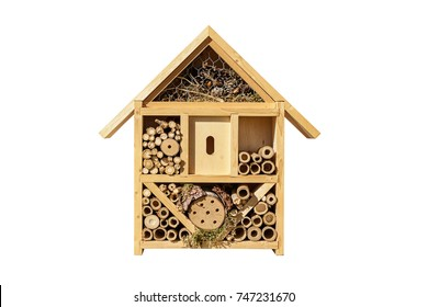 Insect hotel isolated on a white background