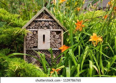 Insect house - hotel in a summer garden