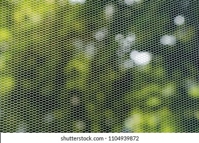 Insect protection net on window