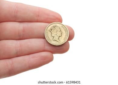 Insert coin in a piggy bank or video game coin op arcade
