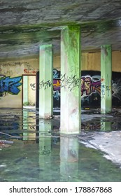 Inside the abandoned building . Playground zone