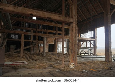 Inside the abandoned farmhouse.
