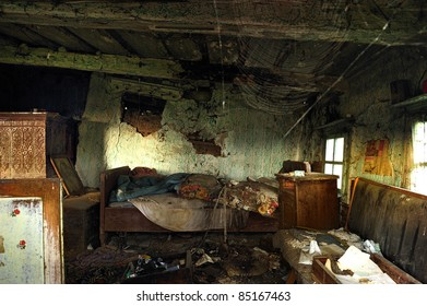 inside an abandoned house