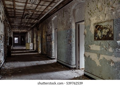 Inside the abandoned Willard Asylum for the Insane / State Hospital in Willard, New York.