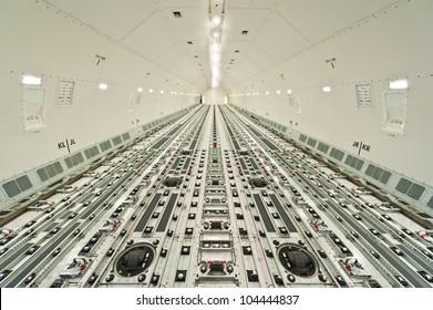 inside air cargo freighter