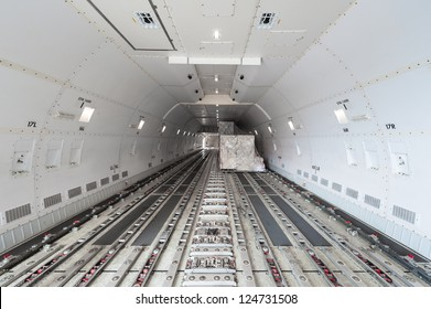 inside air cargo freighter
