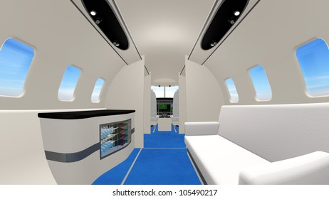 inside of airplane