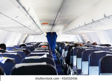 Inside airplane view