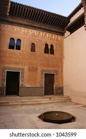 Inside the Alhambra in Granada.