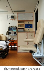 Inside of a ambulance