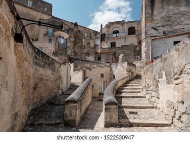 Inside the ancient town of Matera (Sassi di Matera), European Capital of Culture 2019, Basilicata, Italy