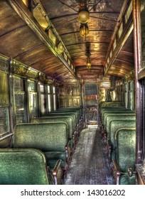 Inside of Antique Passenger Car