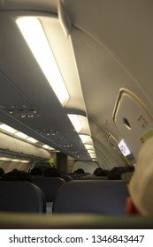 Inside ariplane while on flight