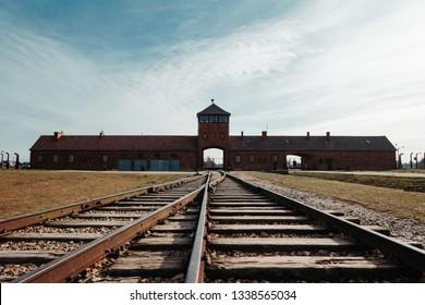 Inside of Auschwitz II-Birkenau Camp