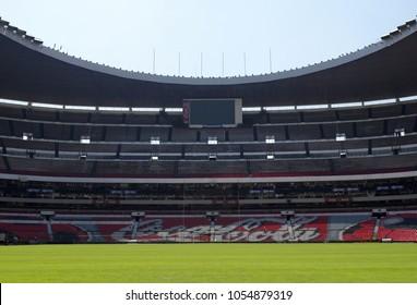 inside the  Azteca stadium in Mexico City. Mexico. July,2008