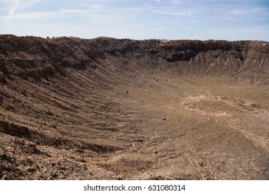 Inside the Barringer Meteor Crater in Arizona
