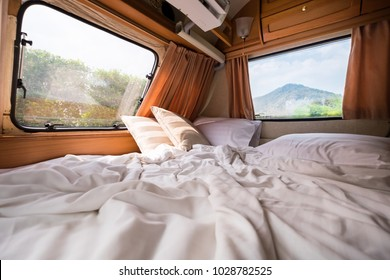 inside of a camper van