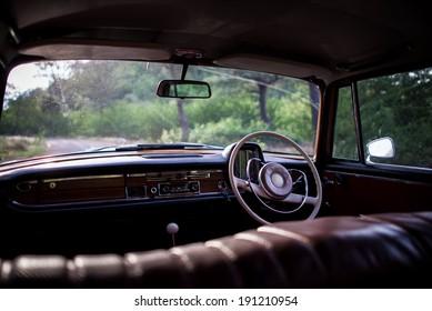 Inside the car, Classic car