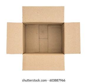 inside of a cardboard packaging box
