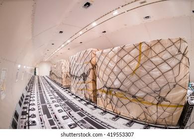 Inside cargo freighter
