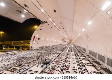 inside cargo plane