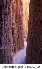 Inside of Cathedral Gorge State Park, Nevada