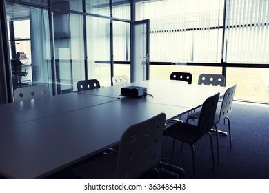 Inside in conference halls