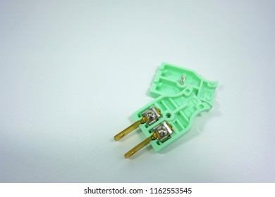 Inside electric plug and white background