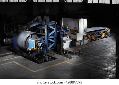 Inside a factory.