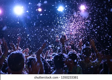 Inside a foam party