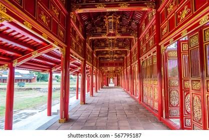 Inside Forbidden Purple City, Hue, Vietnam