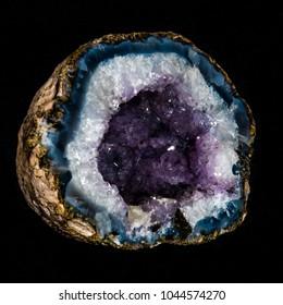 Inside of a Geode on black