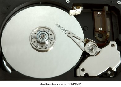 Inside hard drive