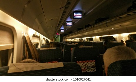 Inside of high speed train