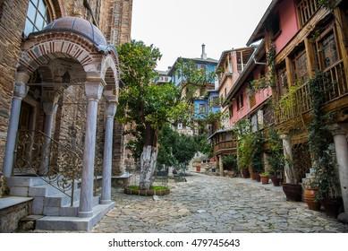 Inside of Holy Monastery Docheiariou, Mount Athos