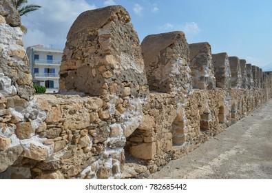 Inside the Ierapetra Fortress in Crete, Greece