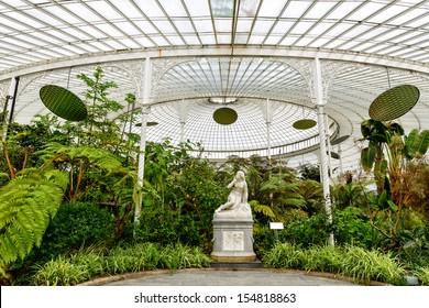 inside Kibble Palace, Glasgow Botanical Gardens, Scotland, UK